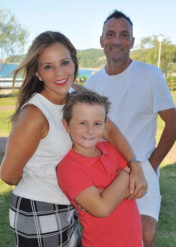 Spresa and Steve Vella with son, Kobi